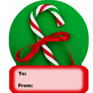 15P4 - Candy Canewith Ribbon